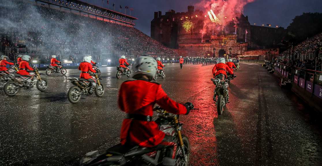 Slide text: The Imps at Edinburgh Tattoo 2016