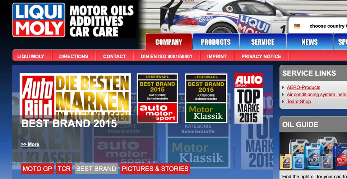 Slide text: Liqui Moly become oil sponsor of The Imps